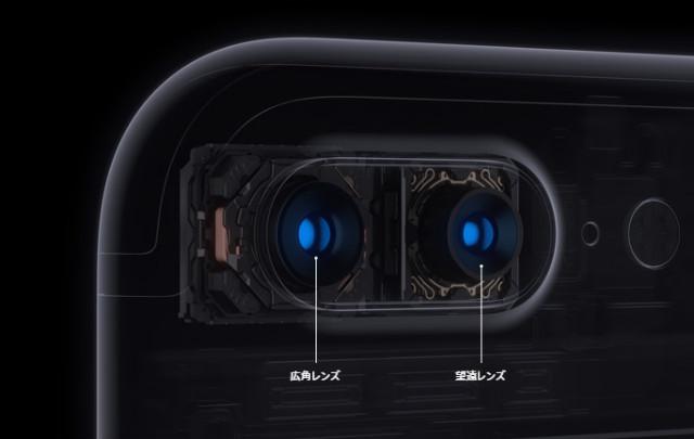 iPhone7 Plus カメラレンズ