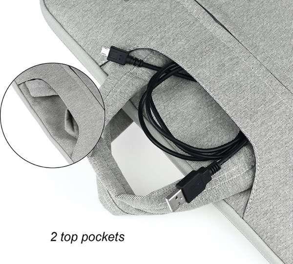 ArcEnCiel インナーケースとしても使えるフリース素材のPCバッグ