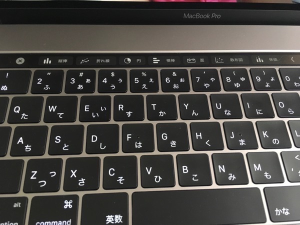 Touch Bar Excel使用時