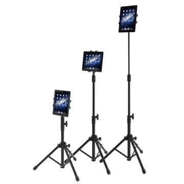 動画撮影時に便利?60~150cmに伸縮するiPad用三脚スタンド