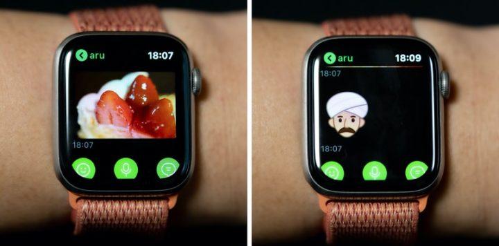 画像やスタンプもApple Watch上で確認できる LINEアプリ