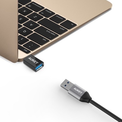 【Aukey】USB-AからUSB-Cへの変換アダプタ