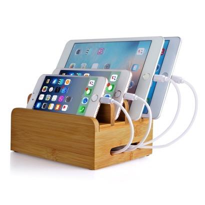 【MixMart】スマホ・タブレット用ケーブル収納付き充電スタンド