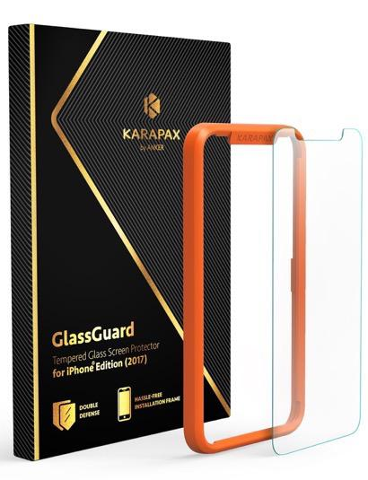【Anker】KARAPAX GlassGuard 簡単に貼り付けられるガイド付き