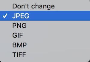 画像のフォーマット変更