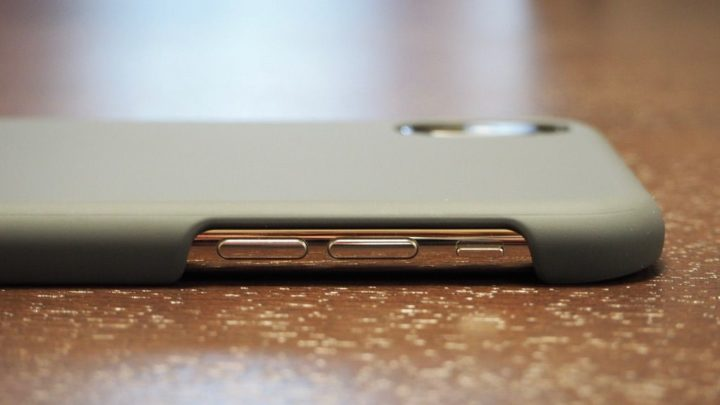 iPhone X用AndMesh Basic Case 音量ボタン