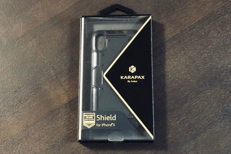 【レビュー】iPhone X用保護ケース「Anker KARAPAX Shield」