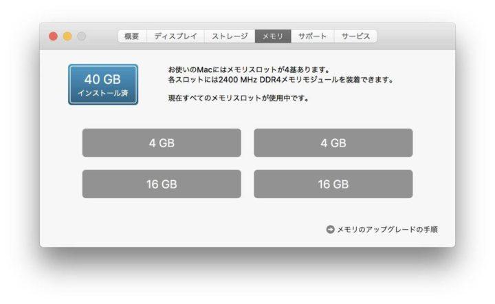 27インチiMacのメモリ増設