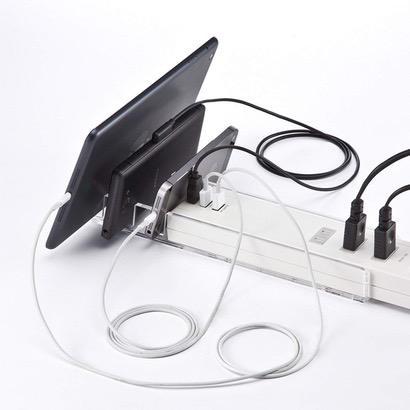 【サンワサプライ】USBポート・スタンド付き電源タップ
