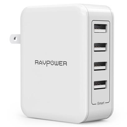 【RAVPower】4ポート搭載のスタンダードアダプタ