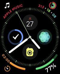 Apple Watch 4の文字盤「INFOGRAPH」