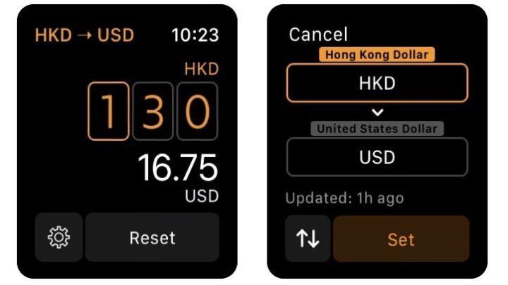 Elk - 旅の通貨換算ツール|手首で素早く通貨換算