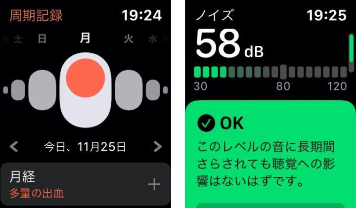 Apple Watchの周期記録とノイズ検知