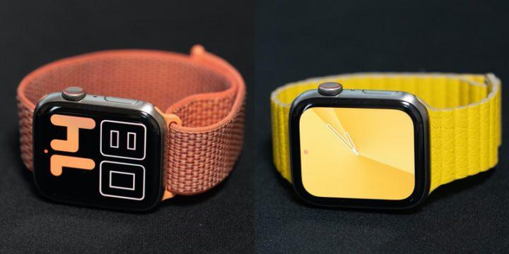 Apple Watch 「スポーツループ」と「レザーループ」