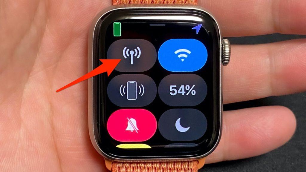 Apple Watch モバイル通信をオフ