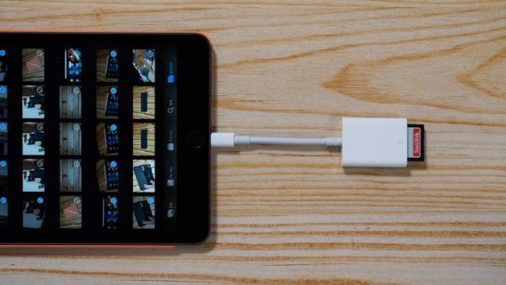 SDカード内の写真・動画をiPadに直接取り込む