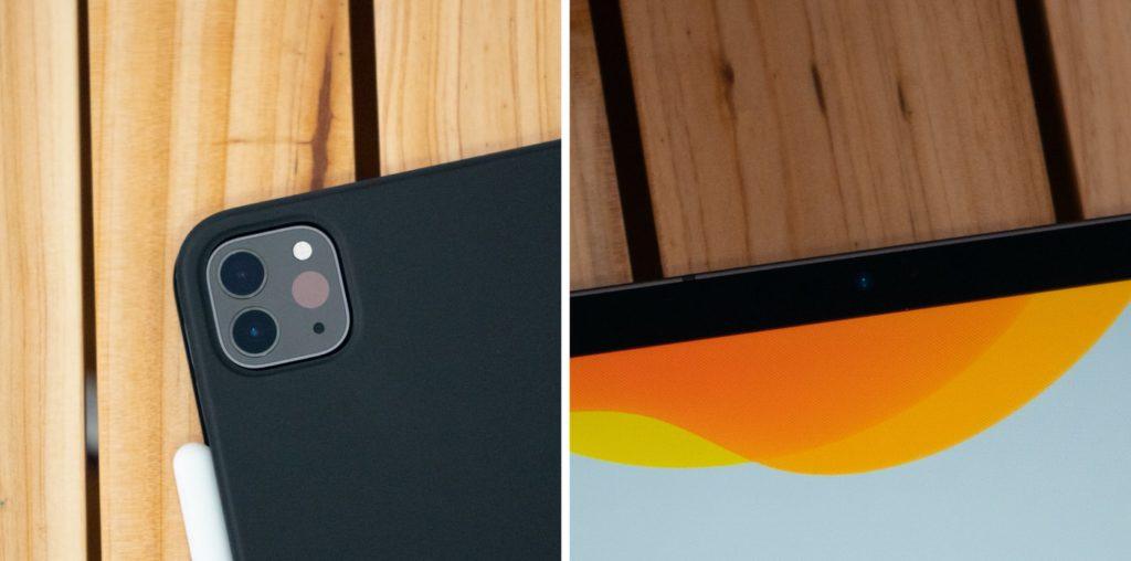 iPadのリアカメラとインカメラ(FaceTime HDカメラ)