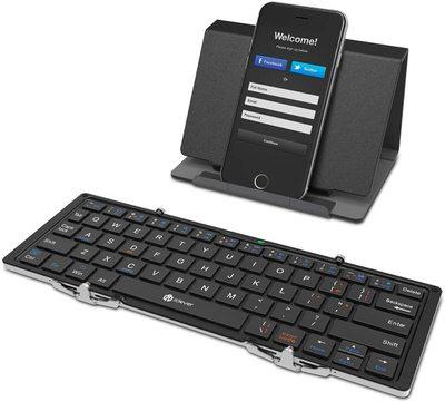 【iClever】スタンド付き三つ折りキーボード