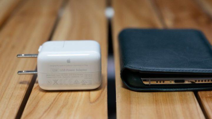 iPad付属の12W電源アダプタ