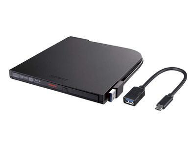 【BAFFALO】USB-C変換ケーブル付き外付けDVD/ブルーレイドライブ
