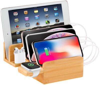 【MixMart】スマホとiPadをひとまとめにできる竹製スタンド