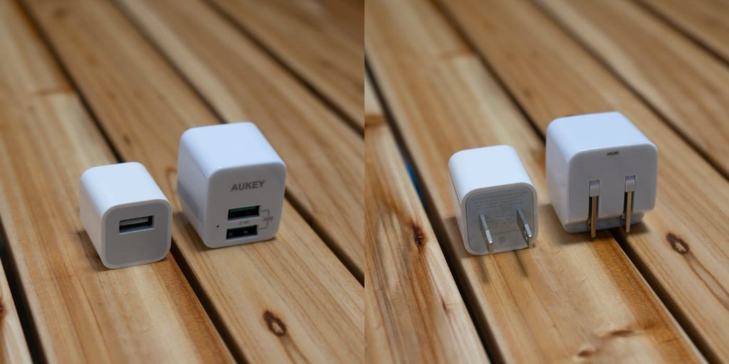 iPhone付属の5W充電器と比較