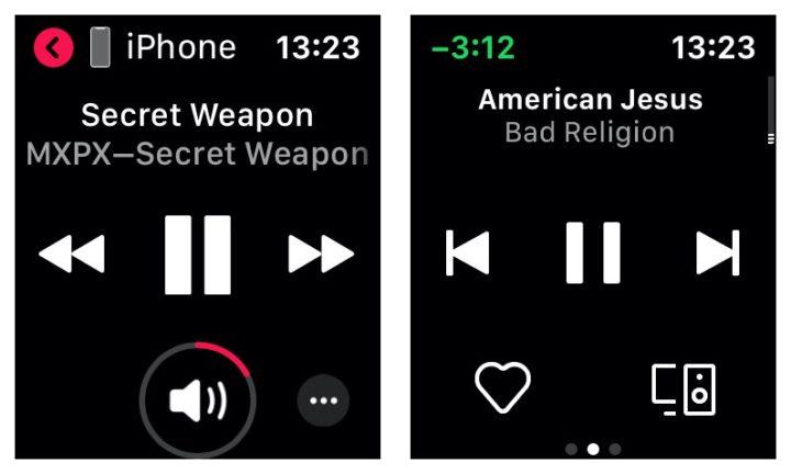 Apple Watchで音楽コントロール