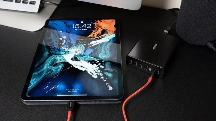 iPad ProとAnker PowerCore+ 5