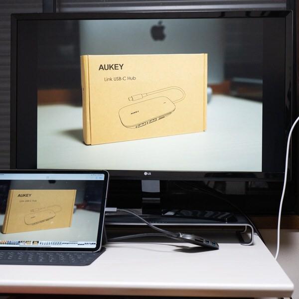 iPad Proと4Kディスプレイを接続