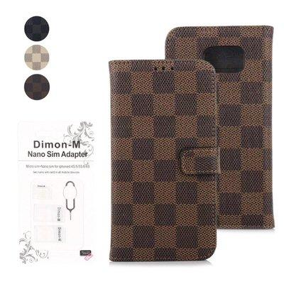 【Dimon-M】市松模様がおしゃれな手帳型ケース
