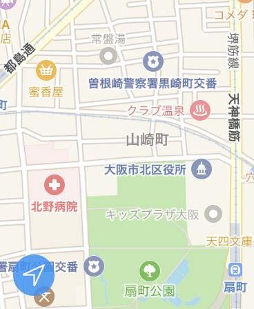 スマートウォッチ上で地図と現在を表示