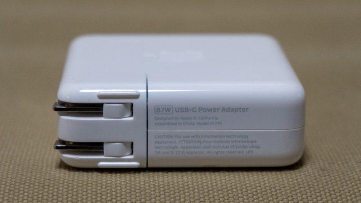 MacBook Pro 15付属の87W充電器