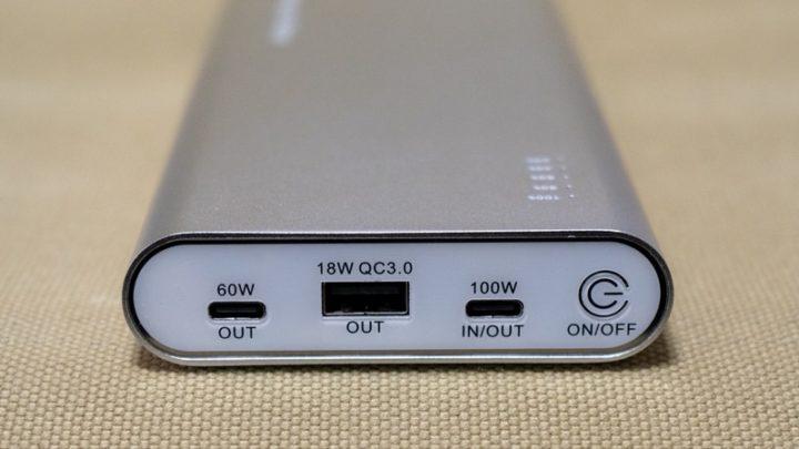 Mghty 100最大の売りは単一のUSB-Cポートで100W出力できること