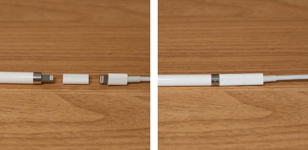 第1世代Apple Pencil アダプタで充電