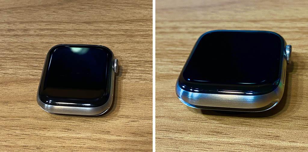 Apple Watch Series 6に保護フィルムを貼り付け5