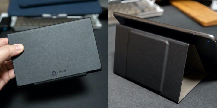 iPad mini 折りたたみ式キーボード 付属のキーボードカバーがiPadスタンドに早変わり