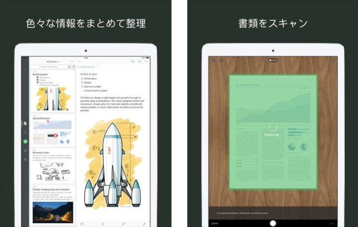 iPadアプリ ノート Evernote