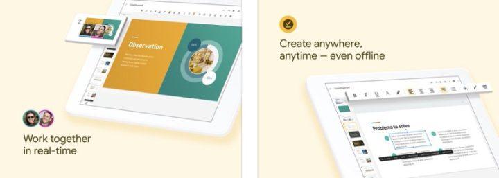 iPadアプリ Googleオフィスアプリ Googleスライド