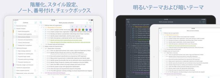 iPadアプリ 仕事効率化 Cloud Outliner Pro