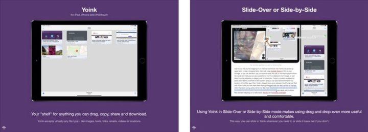 iPadアプリ ユーティリティー Yoink