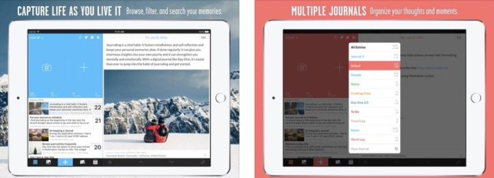 iPadアプリ ライフハック Day One ジャーナル+