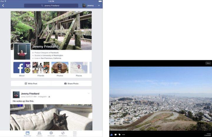 iPadアプリ SNS Facebook
