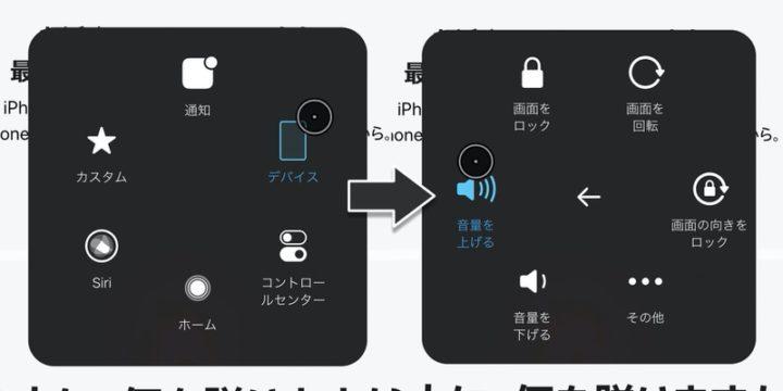 iPadのマウス操作で音量調整などさまざまな操作が可能
