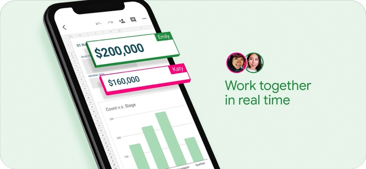 Google製オフィスアプリ|ファイルの共有・共同編集が便利