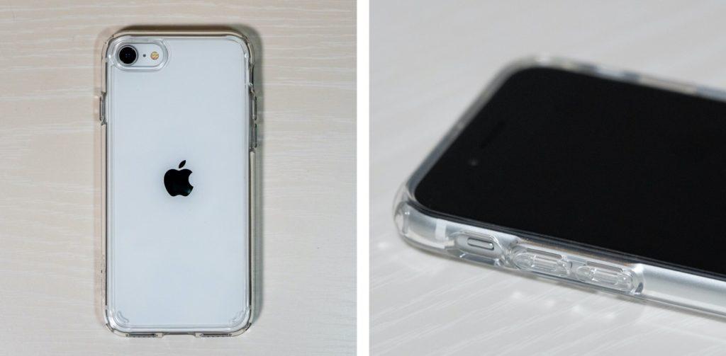 iPhone SE 【Spigen】ウルトラ・ハイブリッド(クリスタル・クリア)