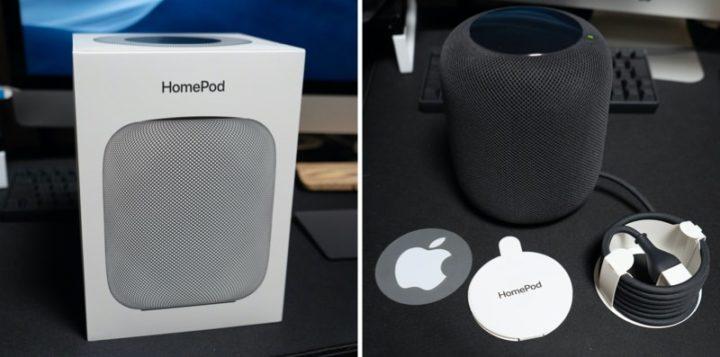HomePodの外箱とパッケージ内容
