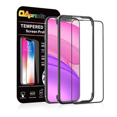 【OAproda】ガイド枠付きガラスフィルム(フルカバー) iPhone 11