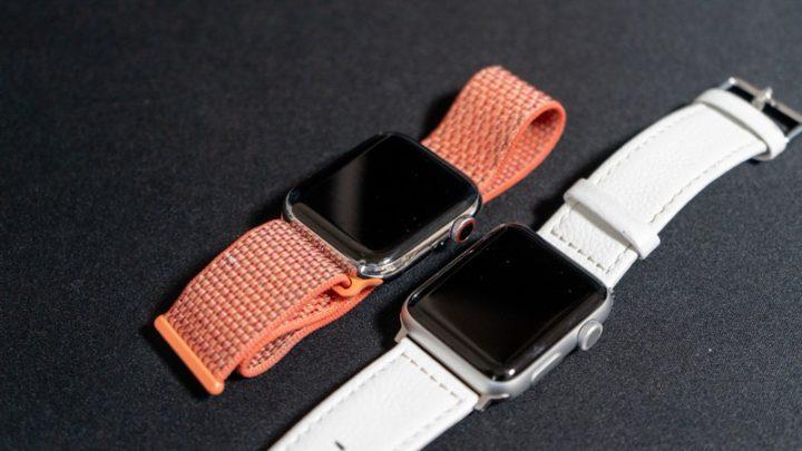 「Apple Watch Series 4セルラーモデル」と「Apple Watch Series 3 GPSモデル」
