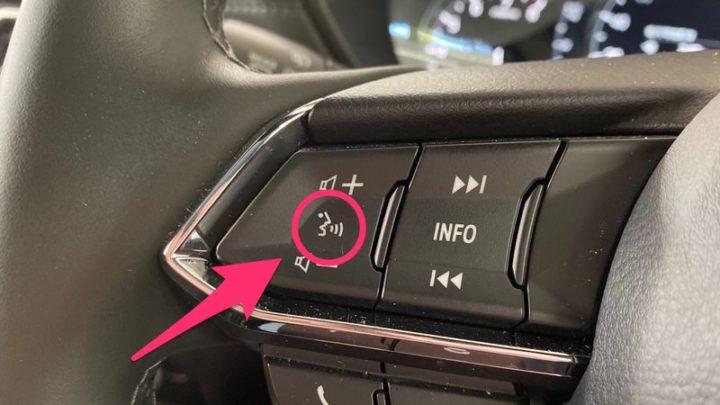 CarPlay 車載の音声ボタンを押すとSiriが起動