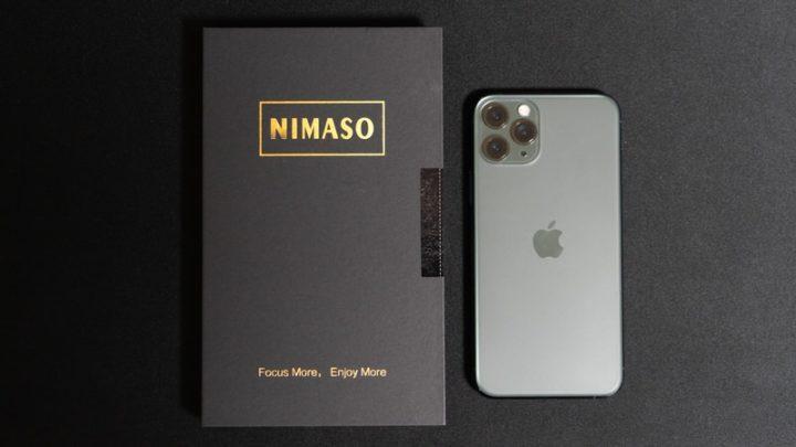 【レビュー】NimasoのiPhone 11 Pro向けガラスフィルムを試す。簡単に位置決めできるガイド枠が便利